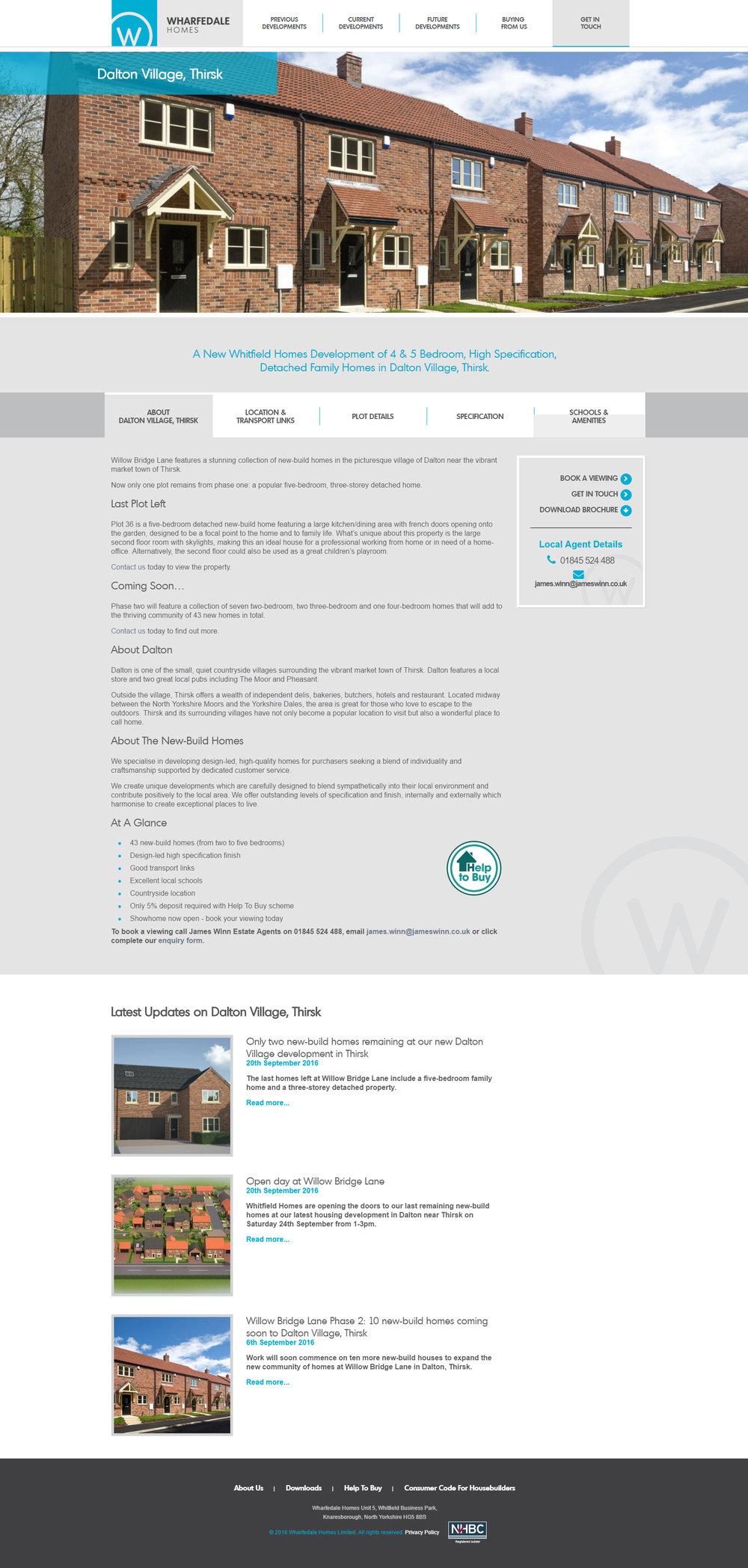 Wharfedale Homes - site designs