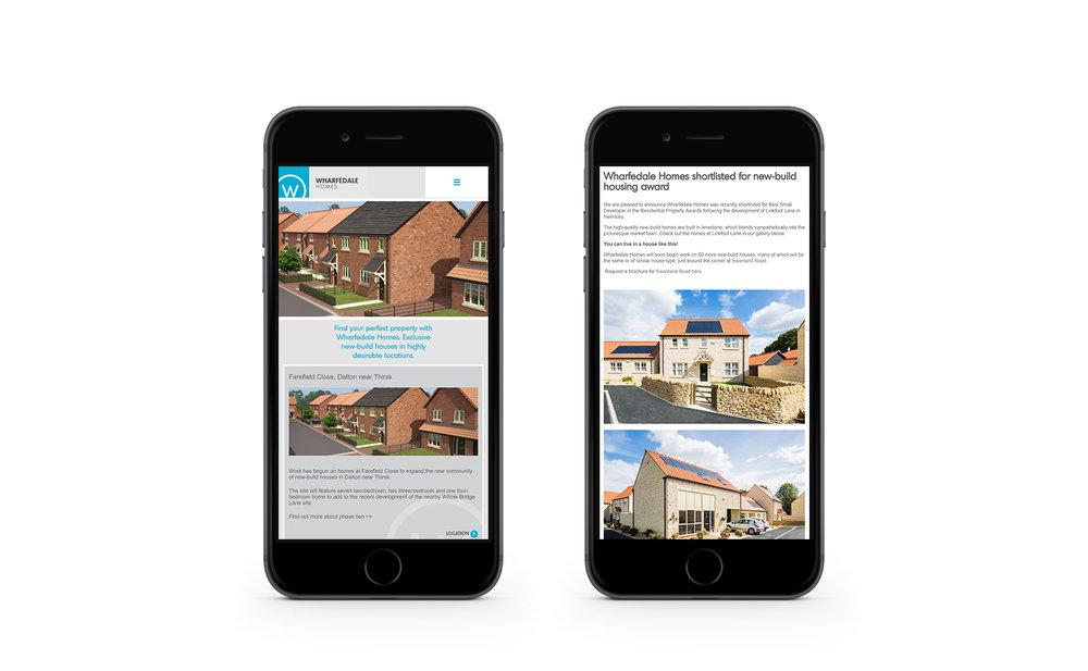 Wharfedale Homes - mobile design