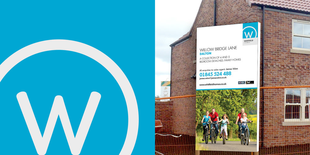 Wharfedale Homes - branding including on-site boards