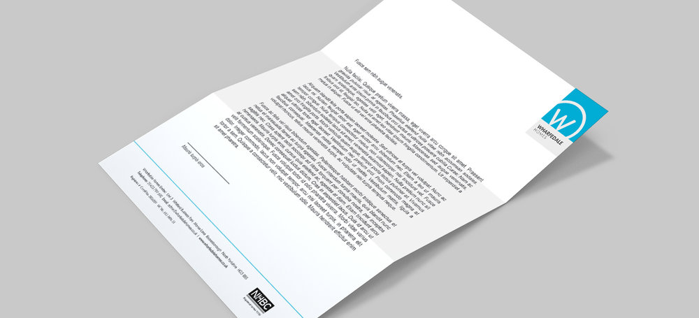 Wharfedale Homes - branded stationery