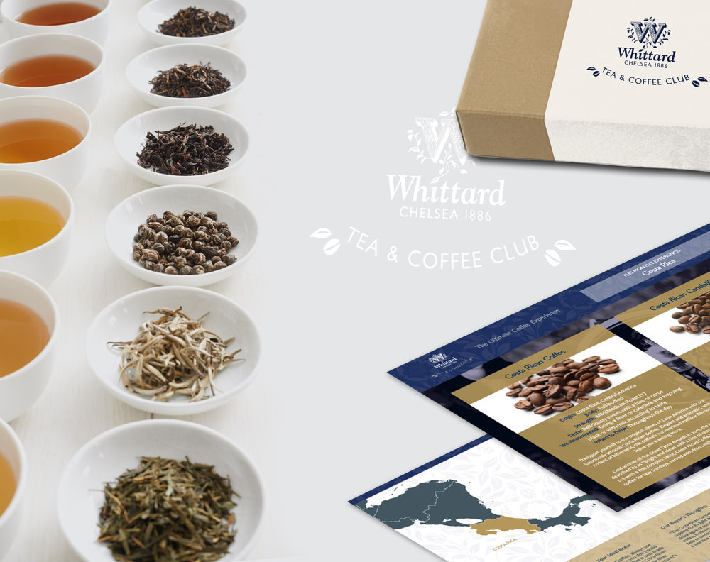 Whittard of Chelsea - tea and coffee club welcome packs