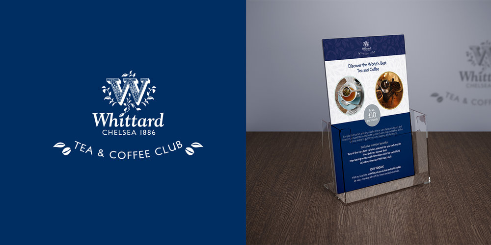 Whittard of Chelsea - branding and in-store point of purchase cards