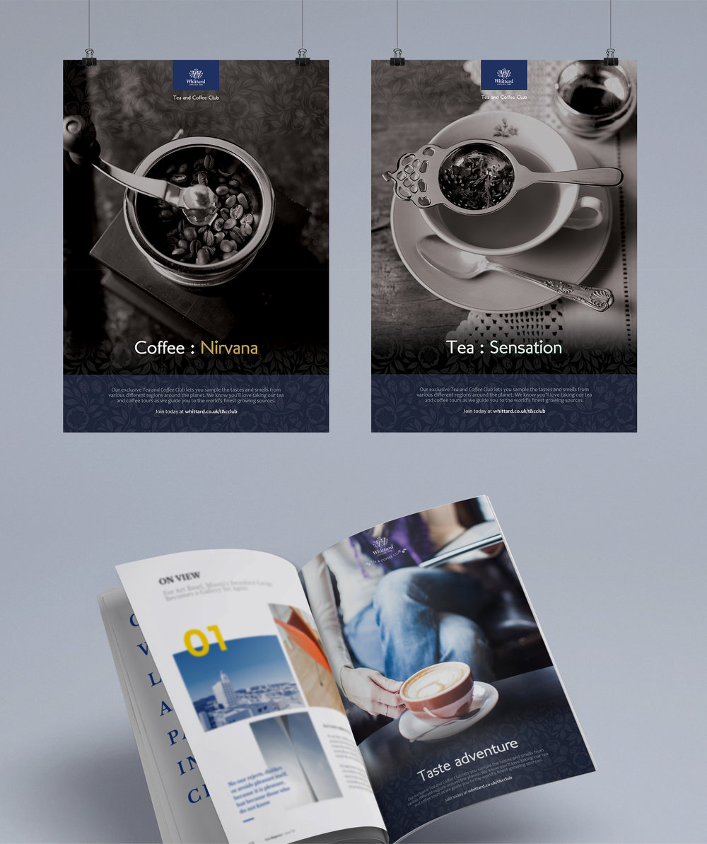 Whittard of Chelsea - press ad concepts for launch