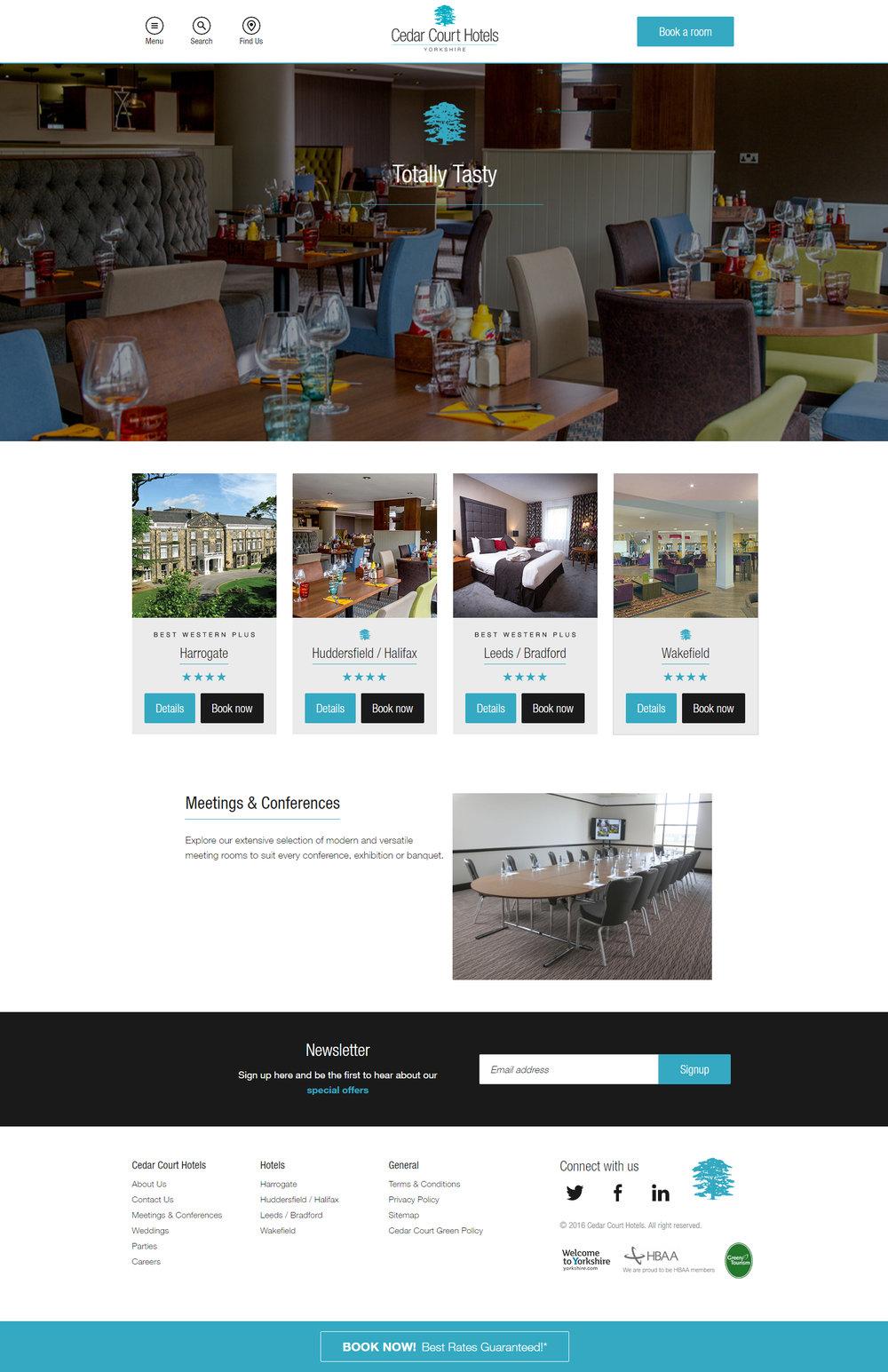 Cedar Court Hotels - site designs