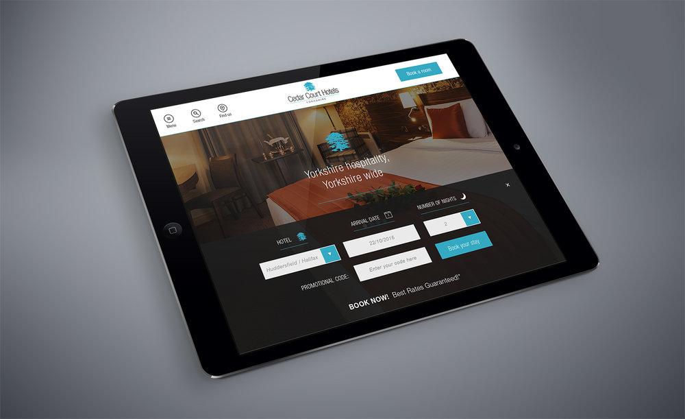 Cedar Court Hotels - responsive UI design