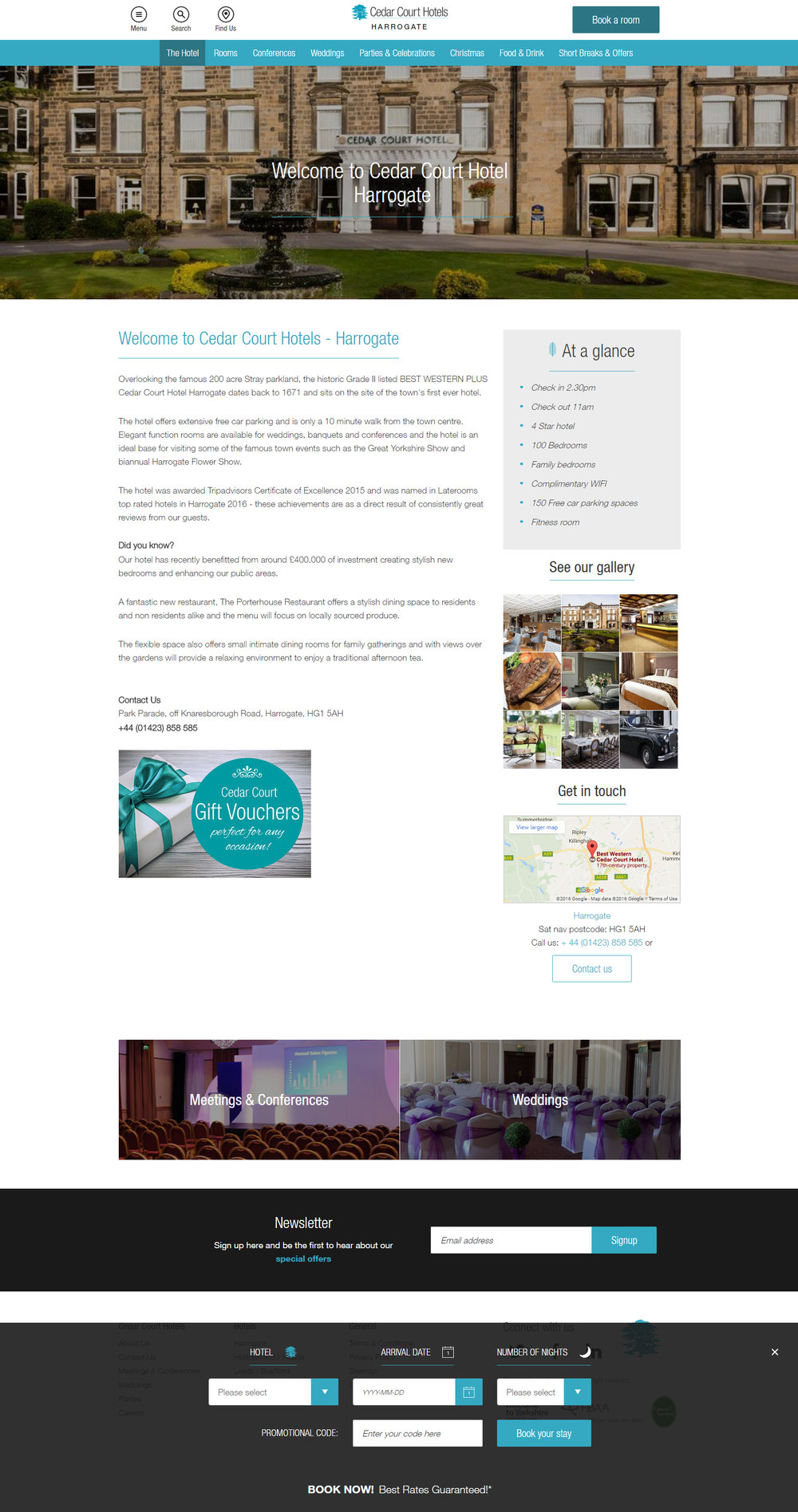 Cedar Court Hotels - site design