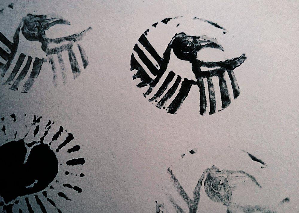 initial designs for Luscinia branding
