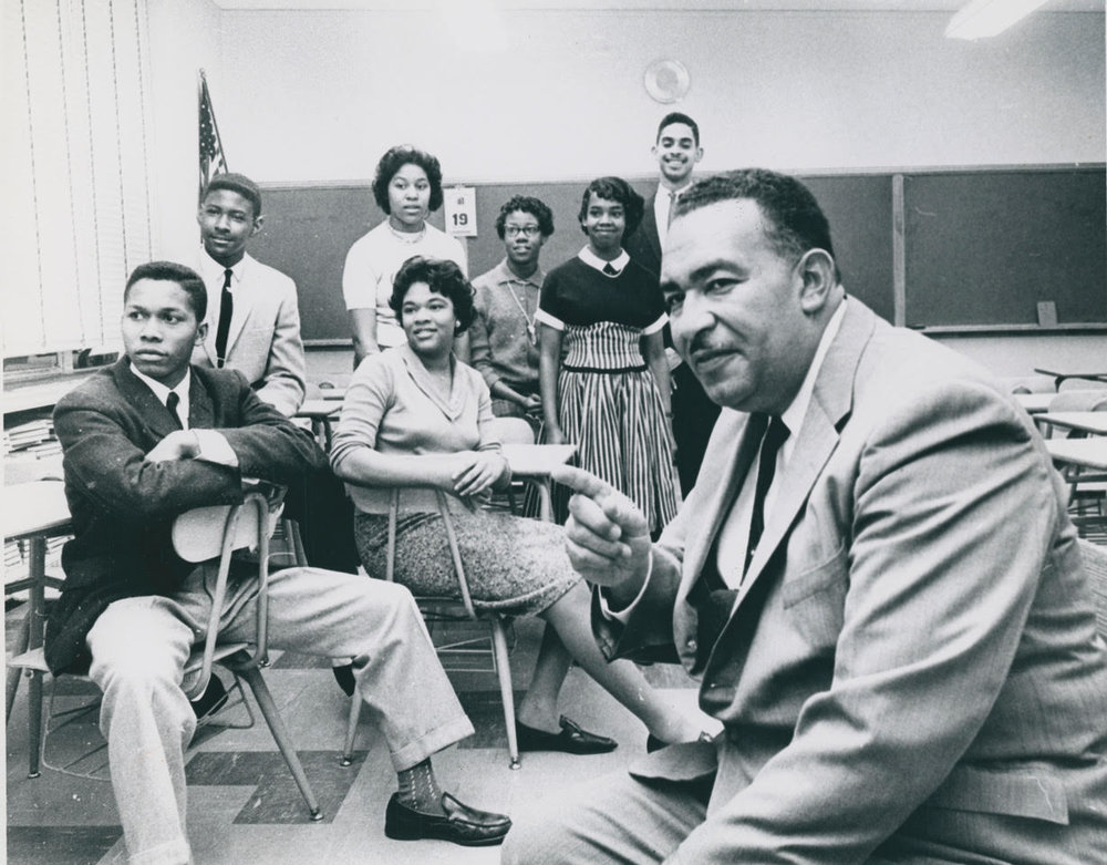 My dad with other Prince Edward County, Virginia students who benefited from the kindness of strangers and were able to finish their high school careers in spite of civil rights racial tensions leading to the closing of all public schools in Prince Edward County for 5 years.