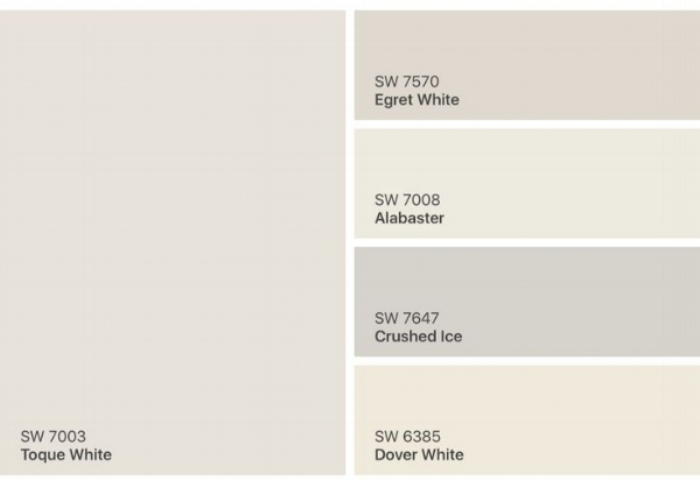 These are the top white sherwin-williams colors for cabinetry.