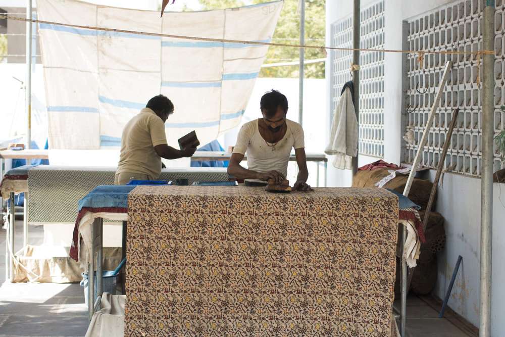 Block printing in Pedana, India 2017