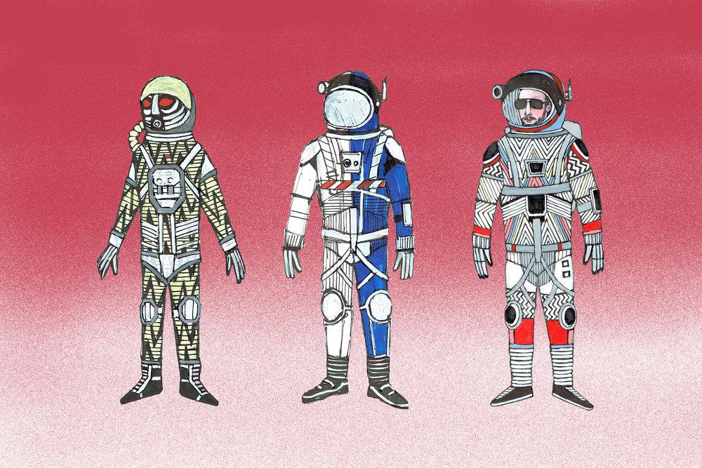 Concept sketches exploration suits