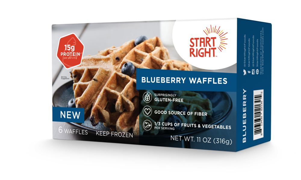 Healthy Frozen Waffles, High Protein Waffles, Healthy Breakfast, Gluten Free Waffles, Healthy Frozen Food, Healthy Toaster Waffles, Blueberry Waffles, Blueberry Frozen Waffles