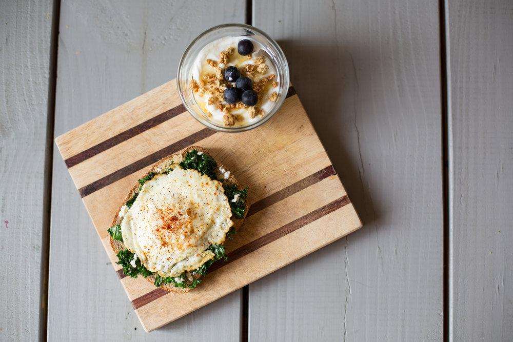 Egg Florentine Toast