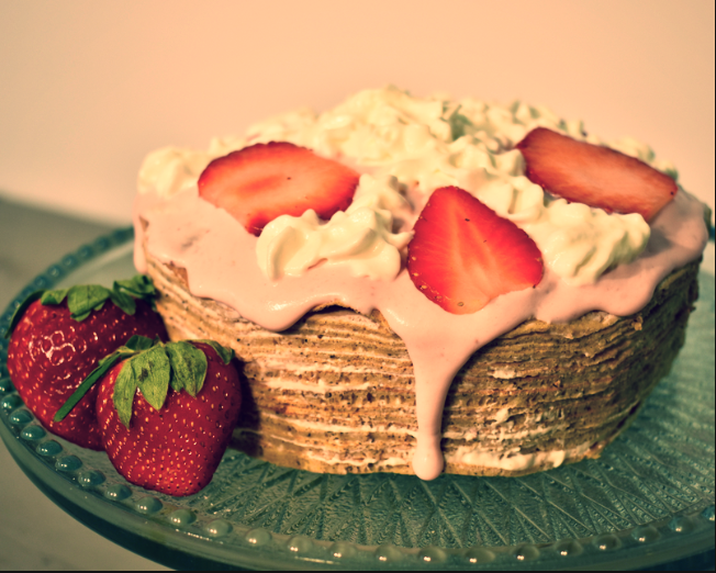 Romance in the Air Crepe Cake