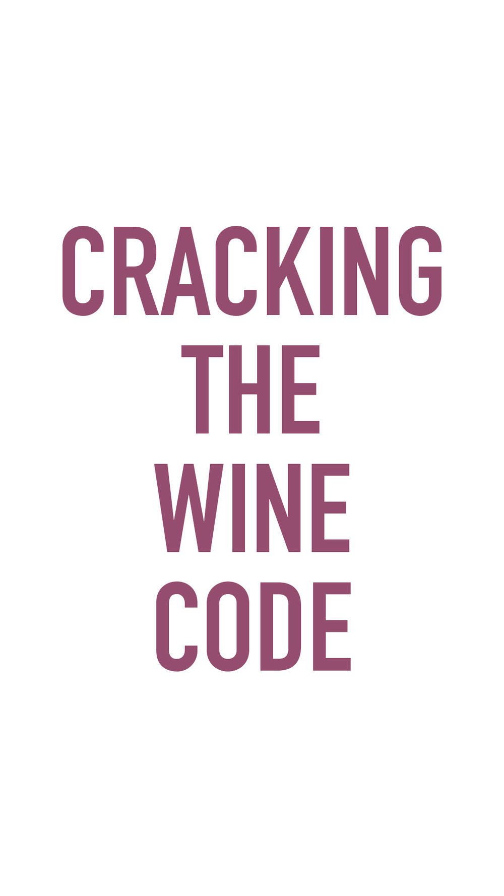 cracking the wine code