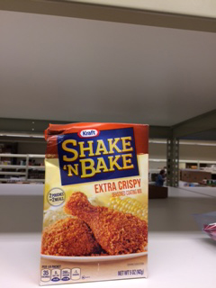 A little damaged, but still shakeable and bakeable.