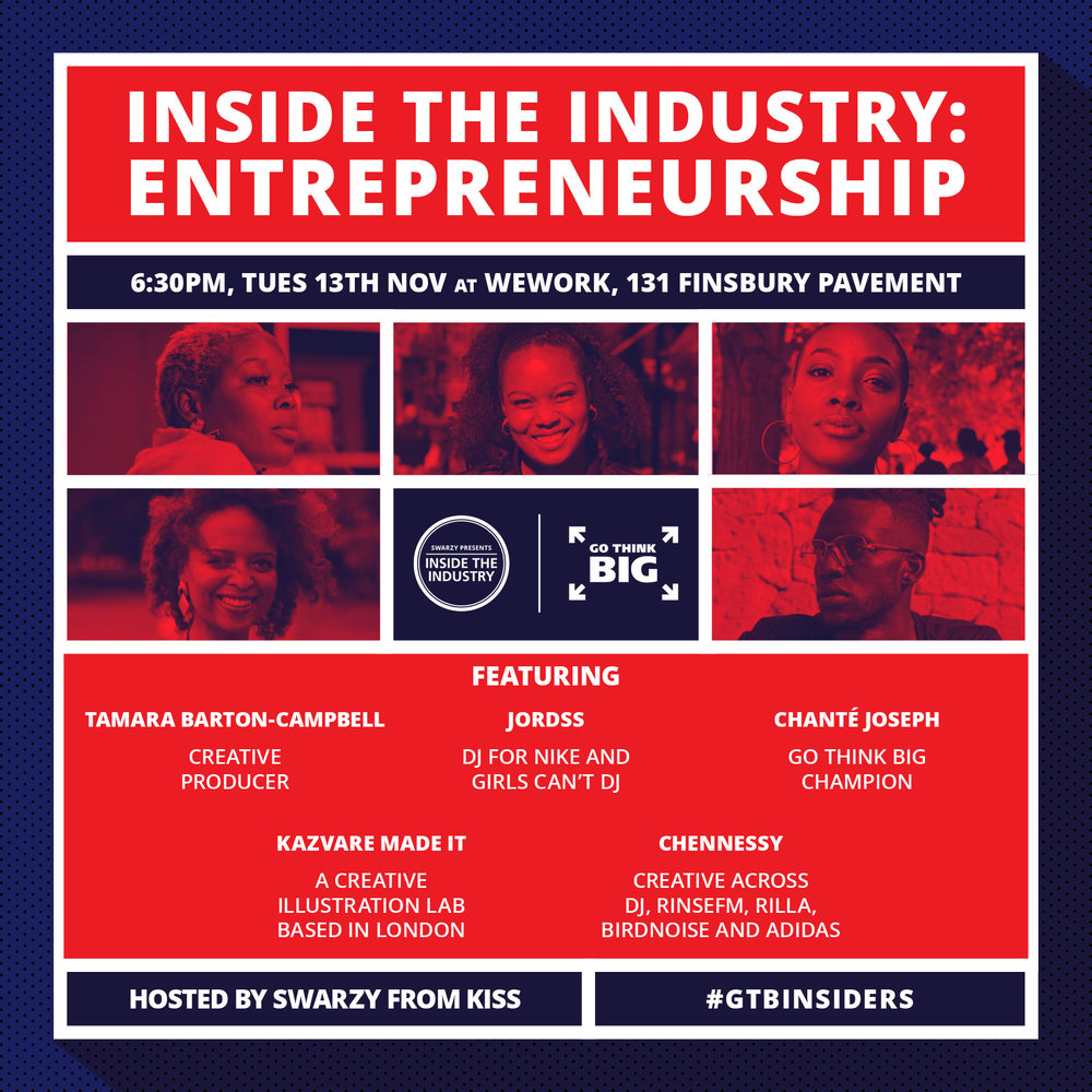 Find out how to turn your passion into a platform by hearing from Entrepreneurs who are flying in their field. -