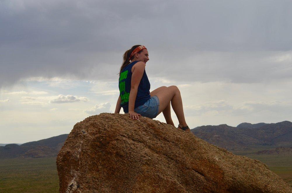 Emma-Climbs-a-Rock