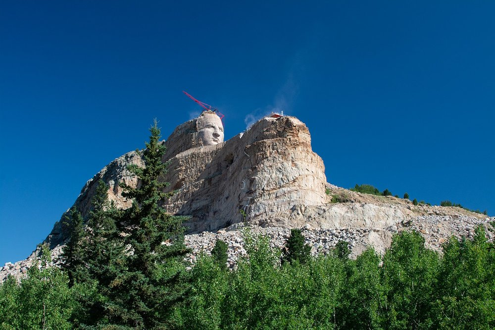Photo: Crazy Horse Memorial ( https://commons.wikimedia.org/wiki/File:Crazy_Horse_Memorial.jpg )