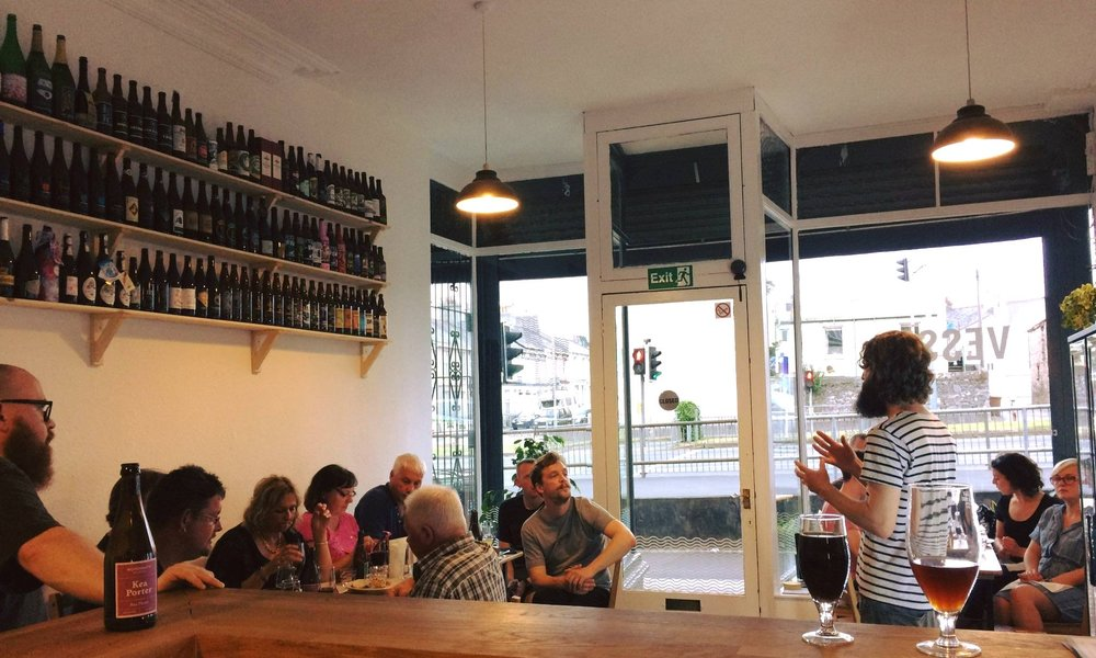 VESSEL BEER SHOP - Plymouth's independent beer shop. Over 150 beers to drink in or take out, in cans, bottles and draught (including take out in glass growlers) from some of the world's best breweries. Also offering a small, carefully selected range of independently produced cheese, wine, spirits and soft drinks.