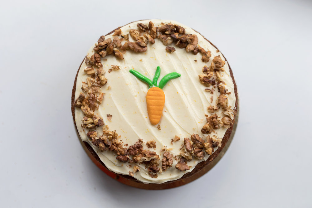Carrot cake - Delicious home made Coffeelicious Carrot cake serves up to 12 persons easily and will cost 32,50