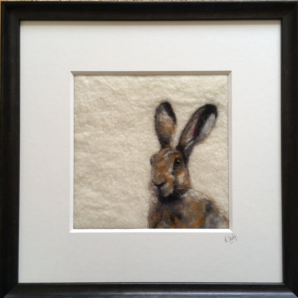 Felt  39cm x 39cm (framed)  £225