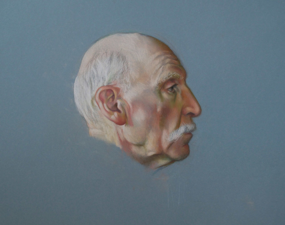 """Portrait, pastel on archival paper, 25 x 19"""""""