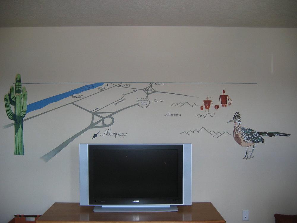 Mural in study