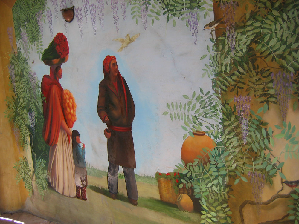 Rivera-style mural
