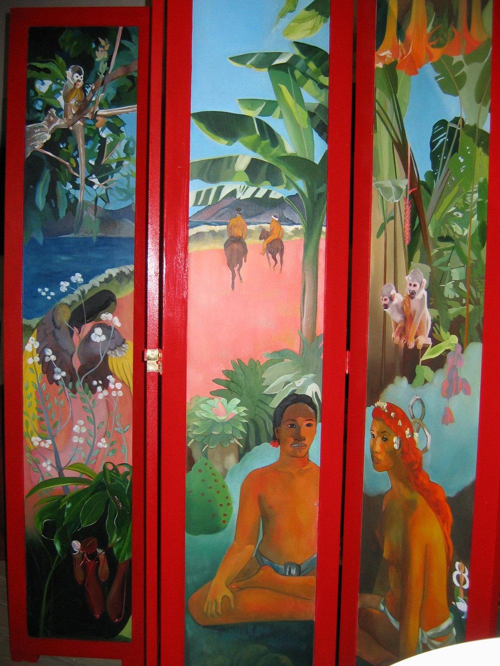 Gauguin-esque screen, detail