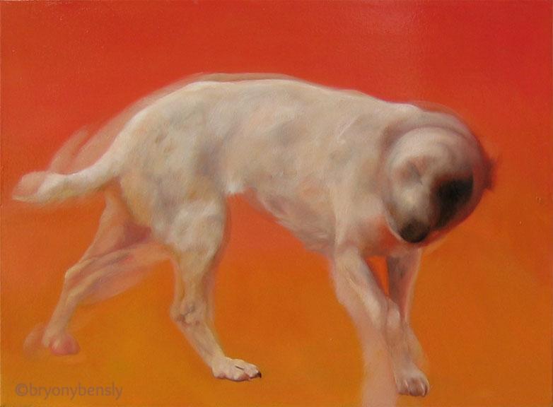 Bacon dog, oil on canvas