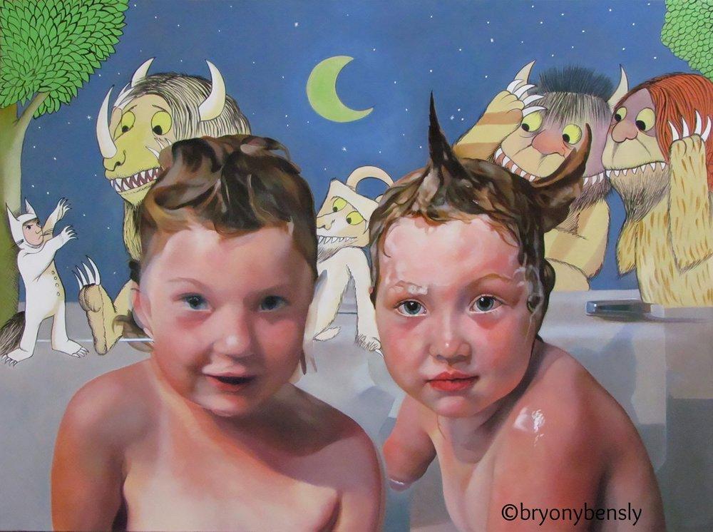 """Wild, 30"""" x 40"""", oil on canvas"""