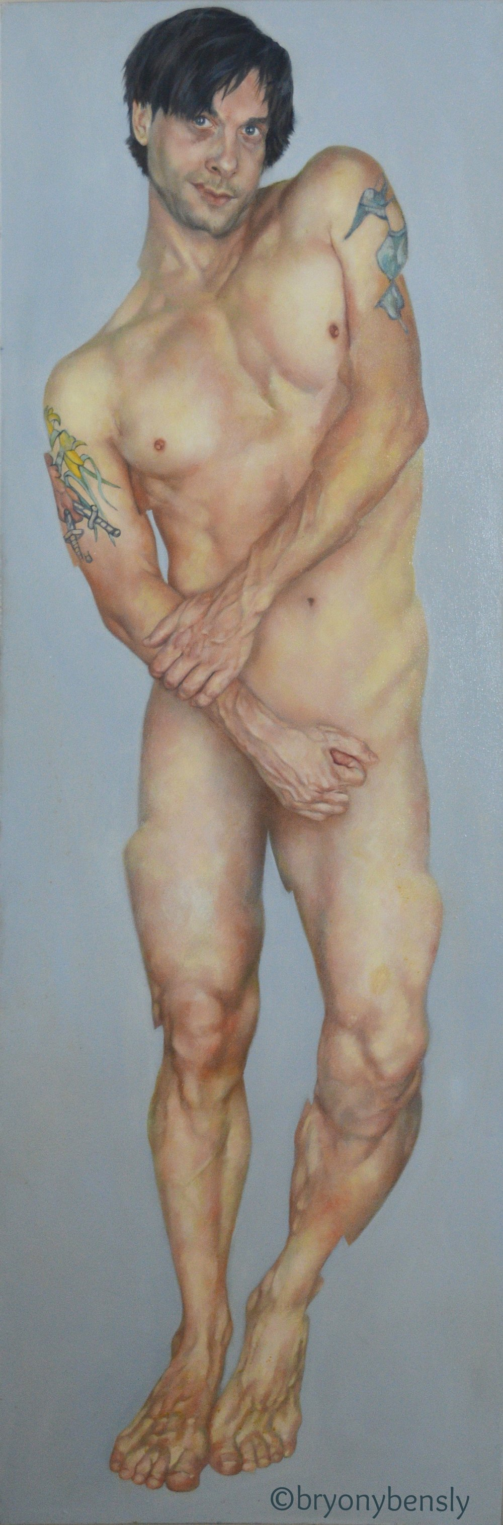 "Fragmented Self, 24"" x 72"", oil in canvas"