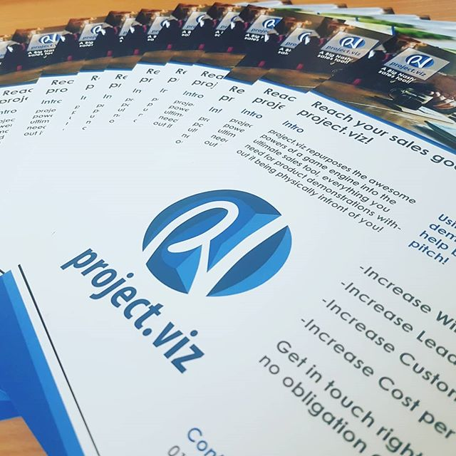 Getting prepared for showcasing project.viz at our first tradeshow!  We had some awesome handouts printed through @diamondpressanddesign , , , , , , , , , , , , , , , , , , #bignastystudios #projectviz #sme #software #flyer #print #handout #marketing #tradeshow #showcase #brand #printing #developers #app #application #appdesign