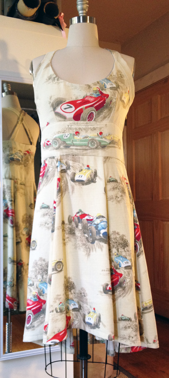Custom Pittsburgh Vintage Grand Prix  Dress Front
