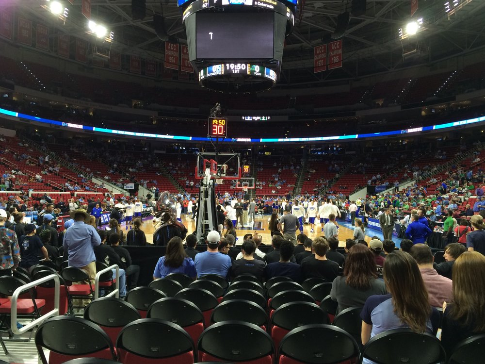 My view at UNC's NCAA Tourney First Round game at PNC Arena. | ©2016 Chris White