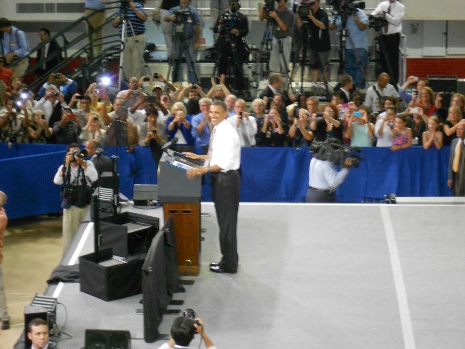 Taken from the vantage point of my seat during President Obama's speech.