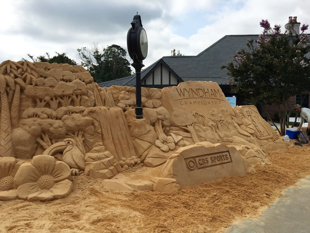 The sand sculpture: an annual tradition of the Wyndham.