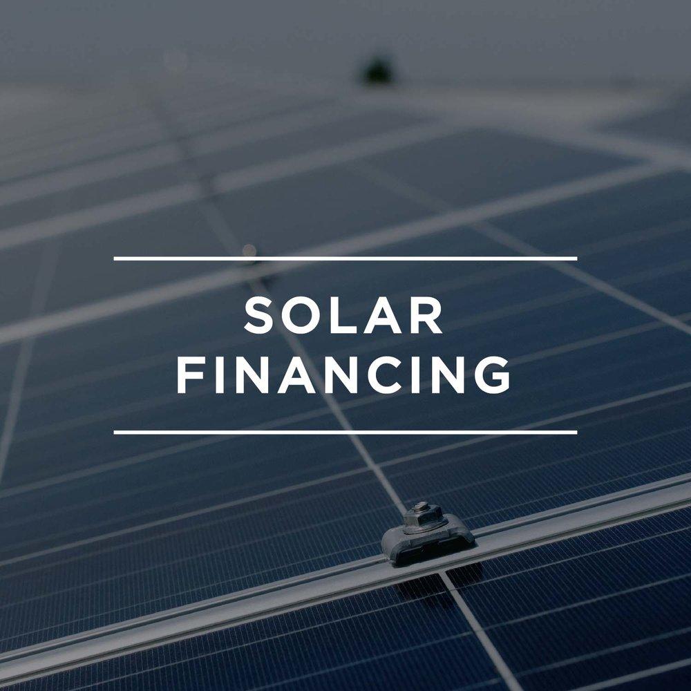 Residential: Solar Financing