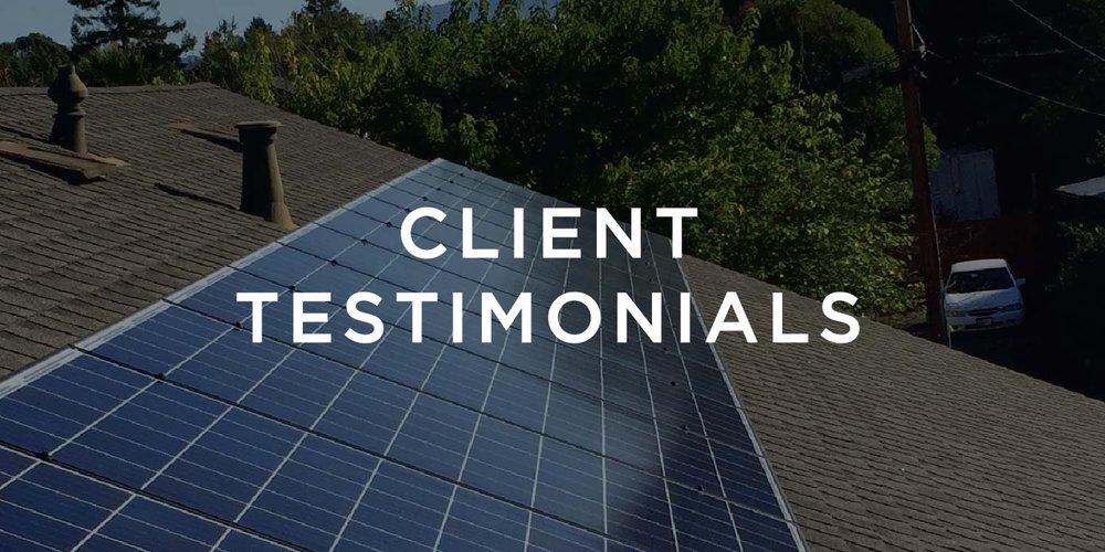Residential Client Testimonials