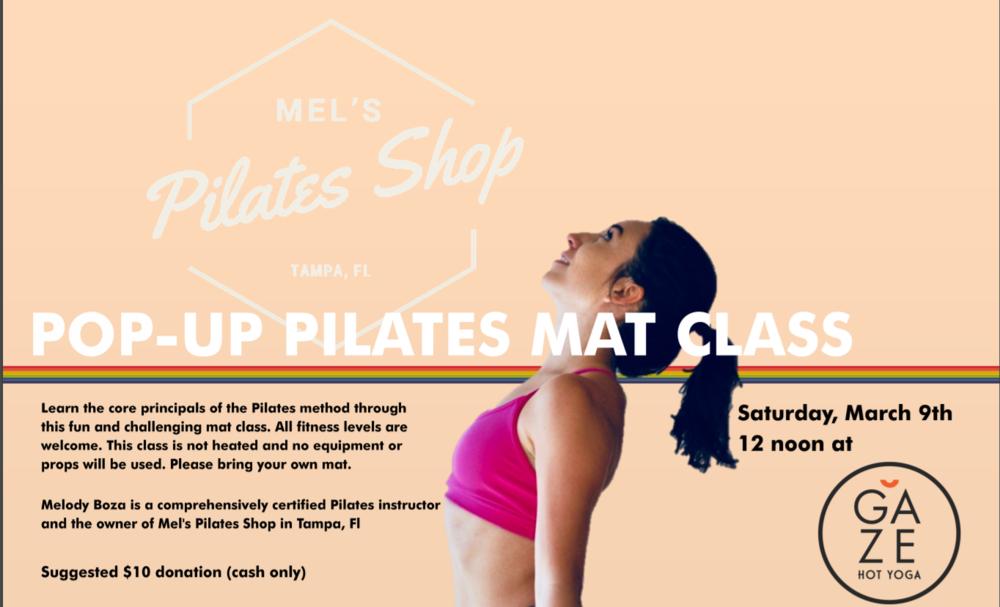 Mel's pilates pop-up