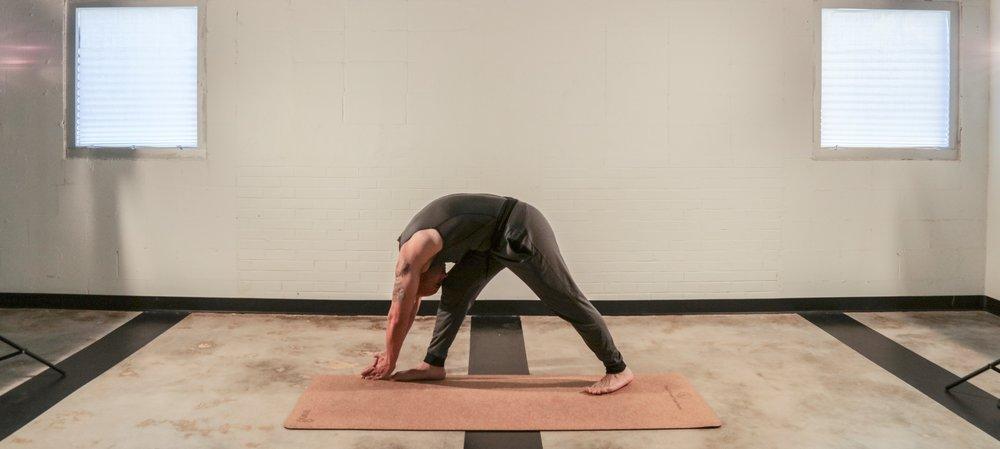 Bikram yoga Standing Separate Leg Head to Knee pose