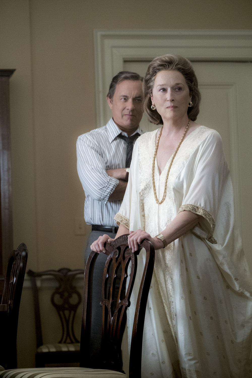 Bradlee (Tom Hanks) og Graham (Meryl Streep).