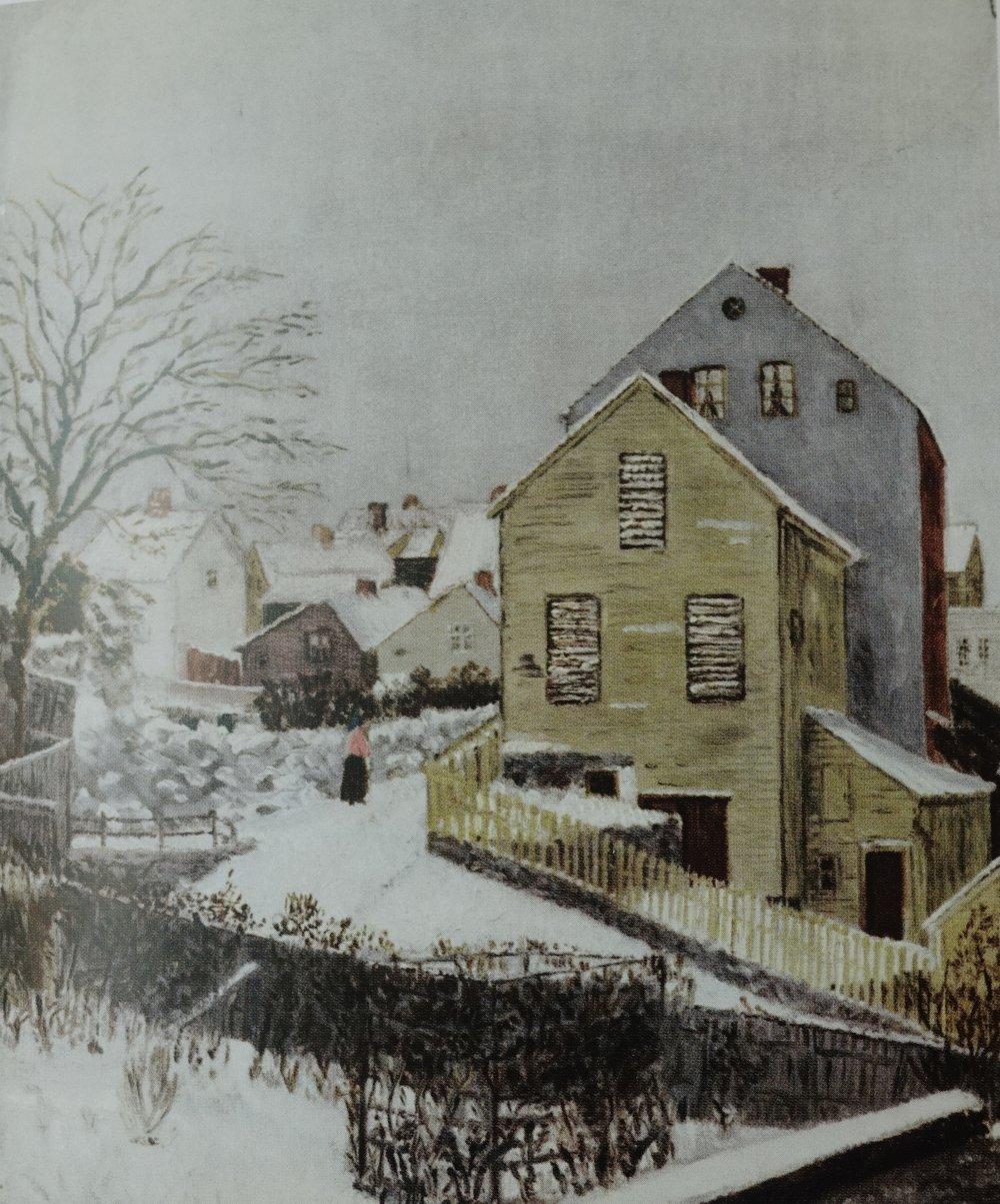 ETTERLYSES:  Løvdahlssvingen, 1890. Tørkehuset til kjøpmann Johan Dahl i Gamle Stavanger.