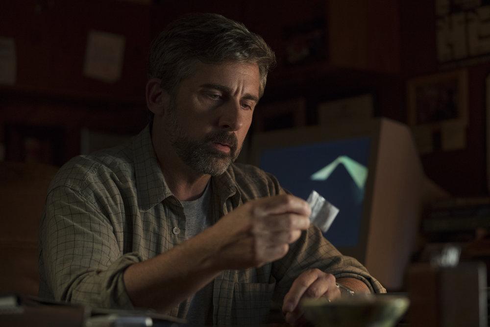 Faren David (Steve Carell) med dopet som demper det kjedelige ved virkeligheten, ifølge sønnen Nic.