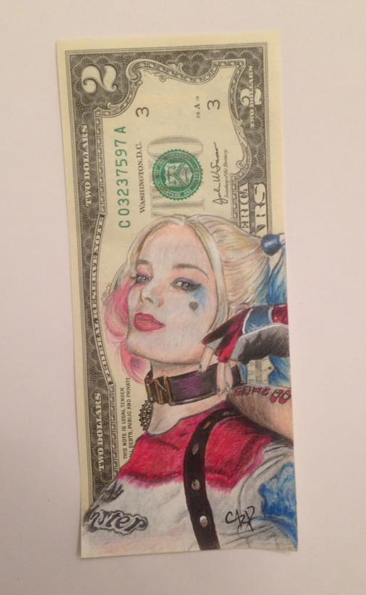 Harley Quinn Currency Art by Gary Rudisill