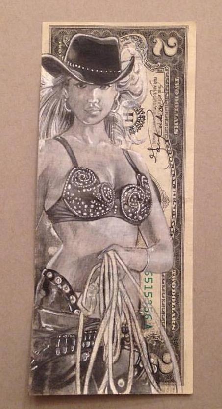 Nancy Callahan Currency Art by Gary Rudisill