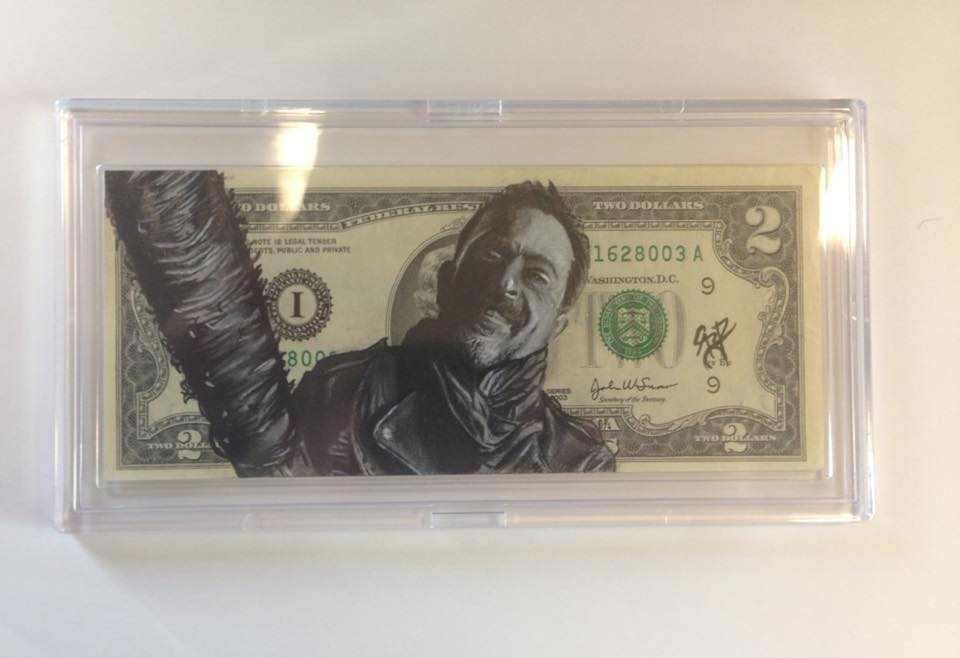 Negan in BCW Currency Slab Acrylic Case
