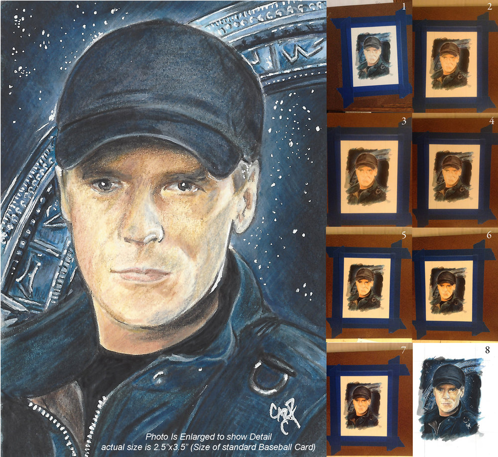 Sketch Card Progression by Gary Rudisill