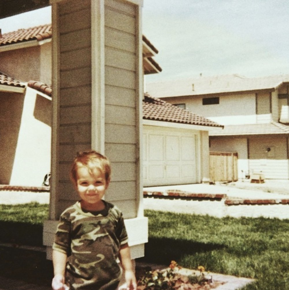 Age 4, 1990, Rancho Cucamonga, Ca.